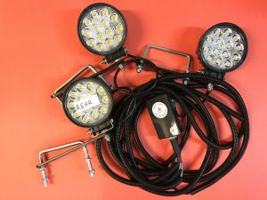 ROPS Lights Mahindra Triple LED Worklight Kit